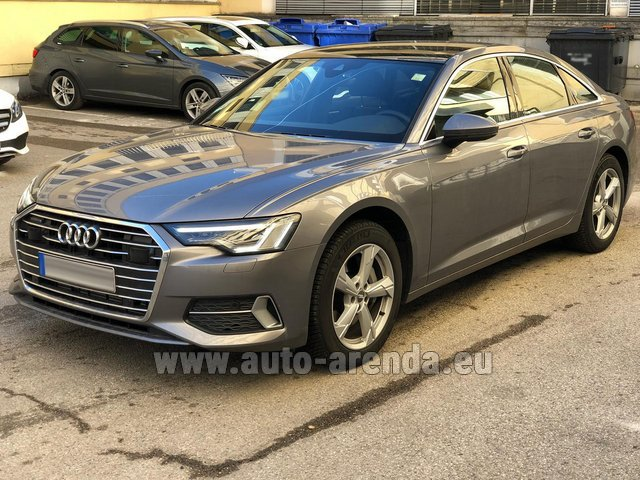 Hire and delivery to the Nice airport the car Audi A6 45 TDI Quattro