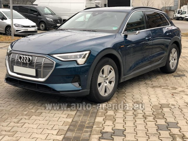 Rental Audi e-tron 55 quattro (electric car) in Menton
