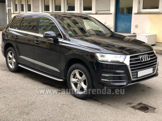 Hire and delivery to the Cannes airport the car Audi Q7 50 TDI Quattro 5-7 seats