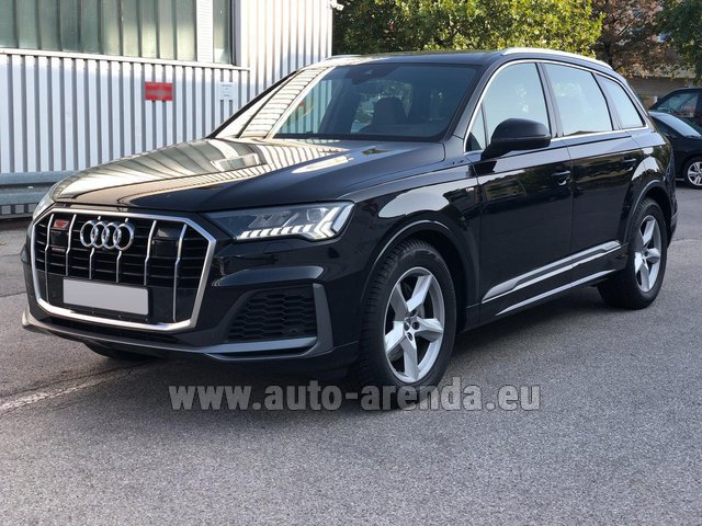 Прокат Ауди Q7 50 TDI Quattro Equipment S-Line (5 мест) в Ментоне