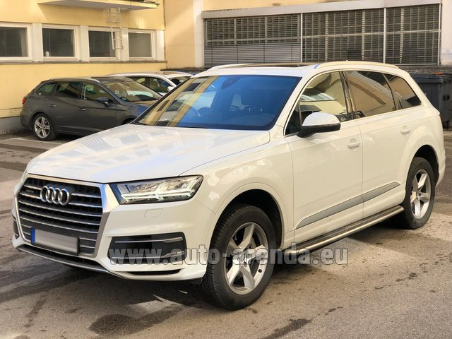 Rental Audi Q7 50 TDI Quattro White in Antibes