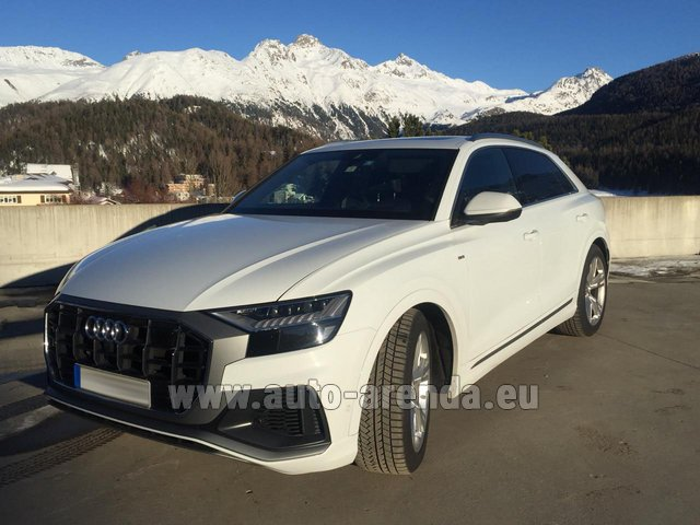 Hire and delivery to the Nice airport the car Audi Q8 50 TDI Quattro