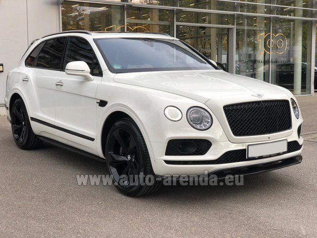 Rental Bentley Bentayga 6.0 litre twin turbo TSI W12 in Antibes
