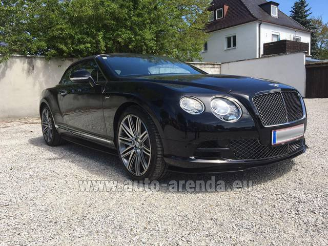 Rental Bentley Continental GTC V12-Speed in Menton