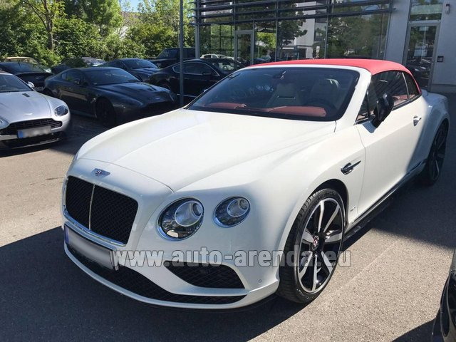 Rental Bentley Continental GTC V8 S in Menton