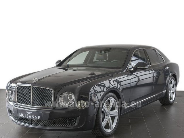 Hire and delivery to the Cannes airport the car: Bentley Mulsanne Speed V12