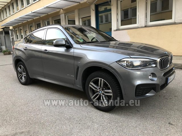 Прокат БМВ X6 4.0d xDrive High Executive M во Французской Ривьере на Лазурном берегу