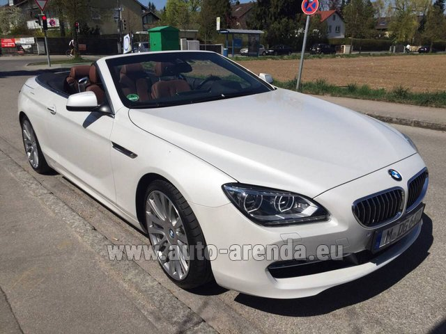 Rental BMW 640 Cabrio Equipment M-Sportpaket in Menton