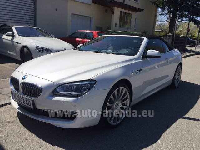 Rental BMW 640d Cabrio Equipment M-Sportpaket in Menton