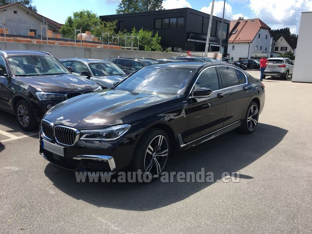 Hire and delivery to the Nice airport the car: BMW 750i XDrive M equipment