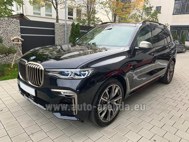 Rental BMW X7 M50d in French Riviera Cote d'Azur