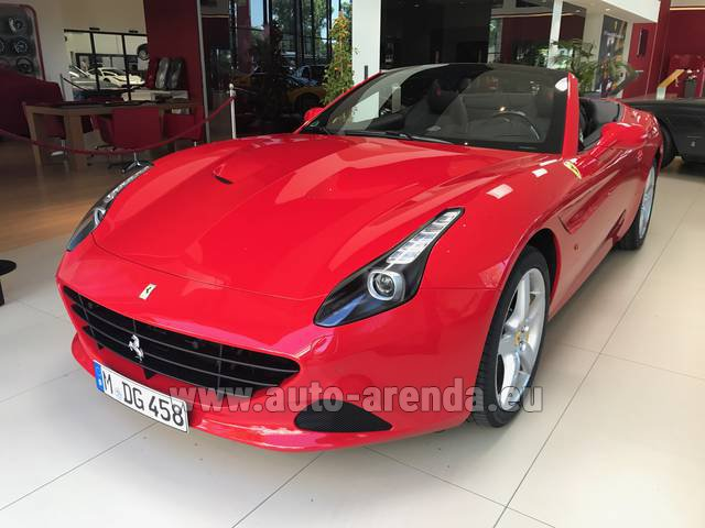 Rental Ferrari California T Convertible Red in Menton