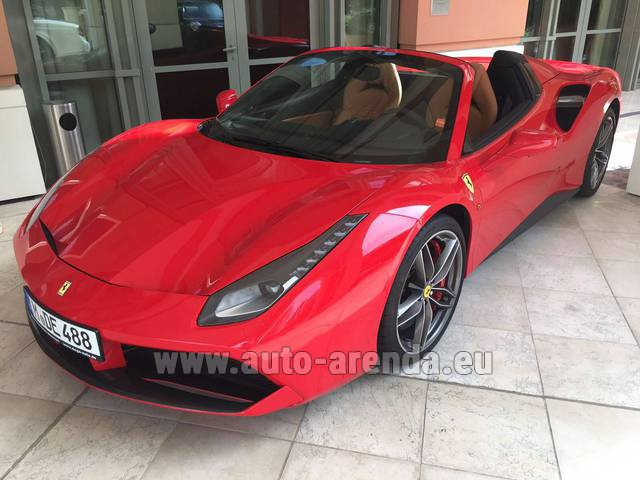 Hire and delivery to the Cannes airport the car: Ferrari 488 GTB Spider Cabrio