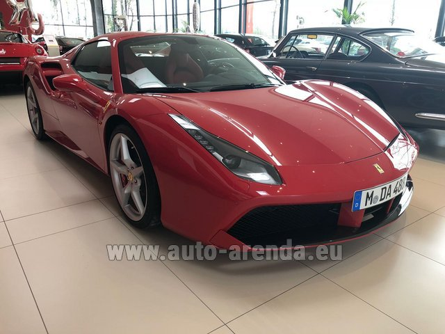 Rental Ferrari 488 Spider in Menton