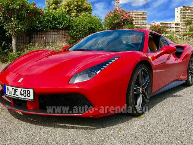 Rental Ferrari 488 in Beaulieu-sur-Mer