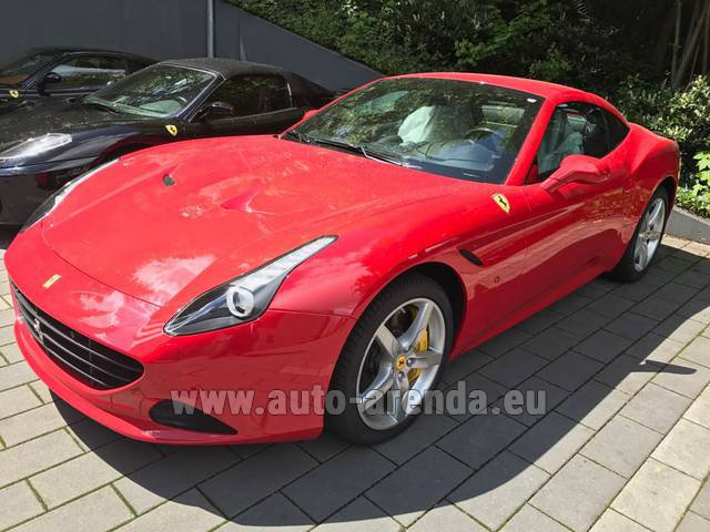 Rental Ferrari California T Cabrio (Red) in Menton