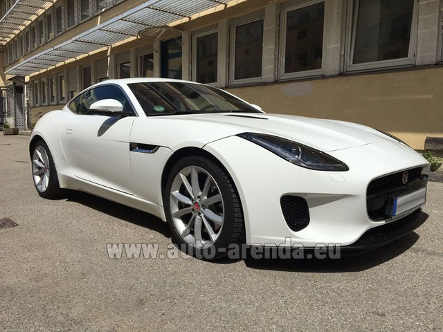 Rental Jaguar F-Type 3.0 Coupe in French Riviera Cote d'Azur