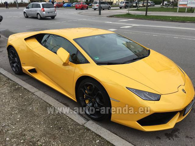 Rental Lamborghini Huracan LP 610-4 Yellow in Beaulieu-sur-Mer