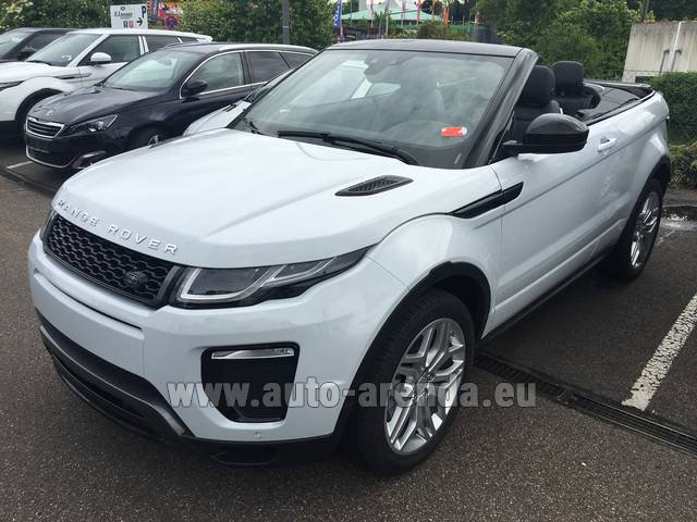 Rental Land Rover Range Rover Evoque HSE Cabrio SD4 Aut. Dynamic in Antibes