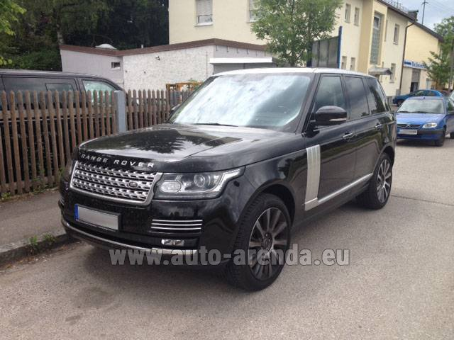 Rental Land Rover Range Rover SDV8 Autobiography in French Riviera Cote d'Azur