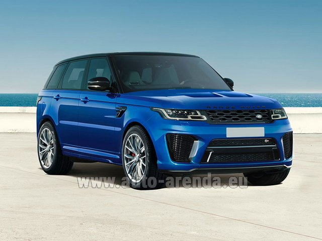 Hire and delivery to the Cannes airport the car Land Rover Range Rover Sport SVR V8