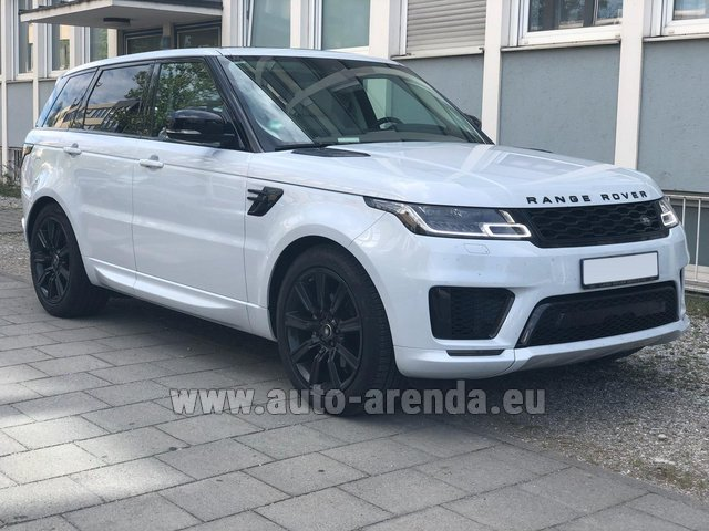 Rental Land Rover Range Rover Sport White in Antibes