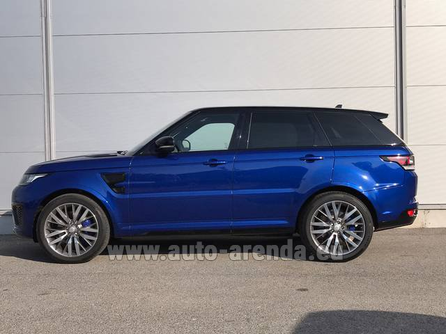 Rental Land Rover Range Sport SVR V8 in Antibes