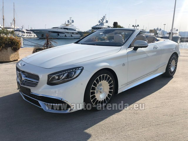 Rental Maybach S 650 Cabriolet, 1 of 300 Limited Edition in Menton