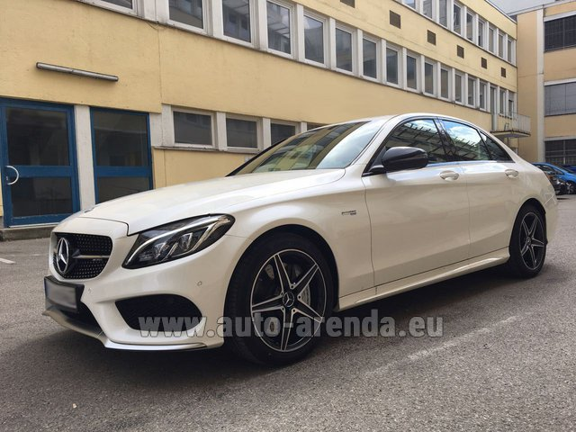 Rental Mercedes-Benz C-Class C43 AMG Biturbo 4MATIC White in Nice