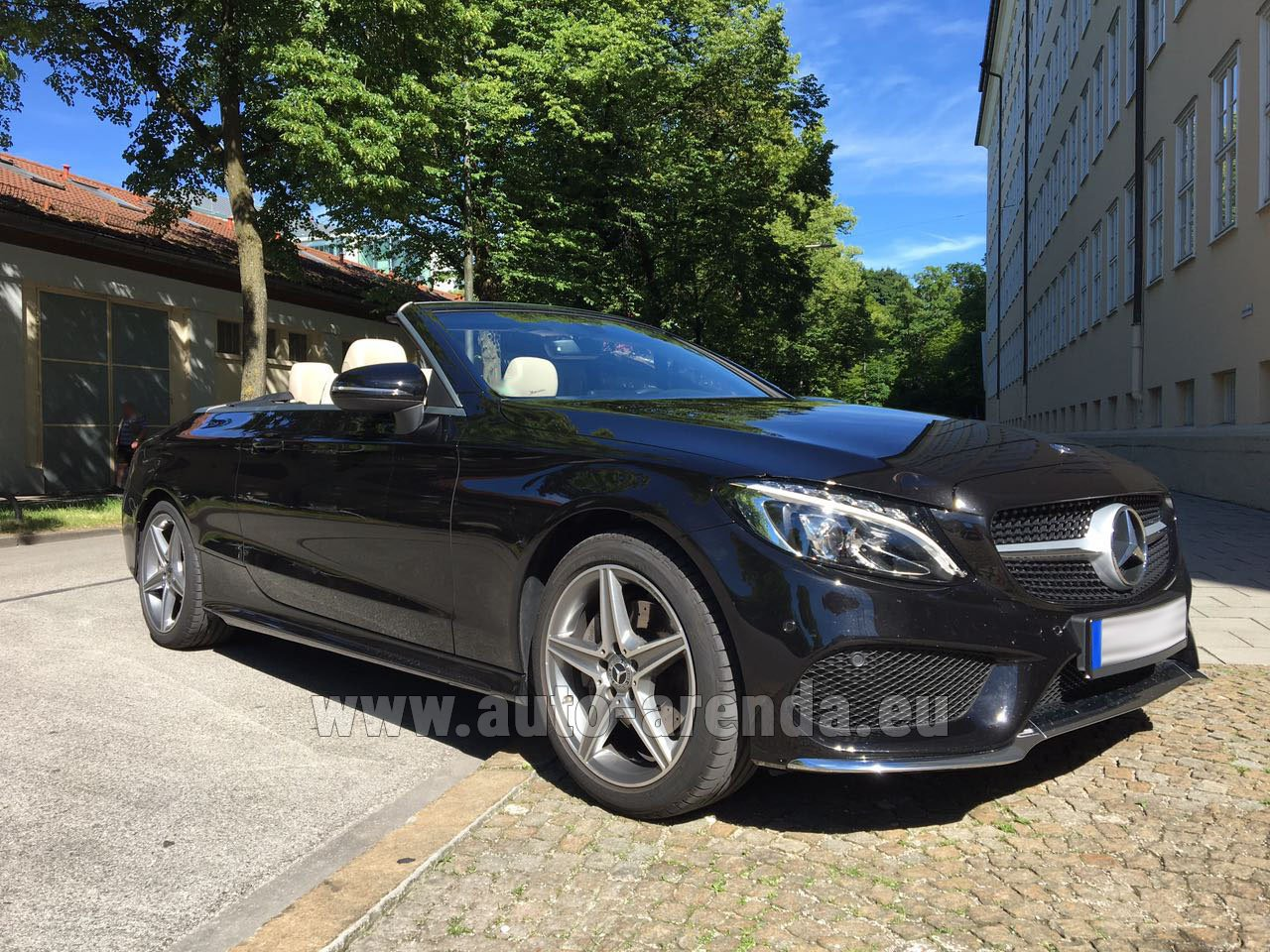nice mercedes c class c 180 cabrio amg equipment black rental. Black Bedroom Furniture Sets. Home Design Ideas