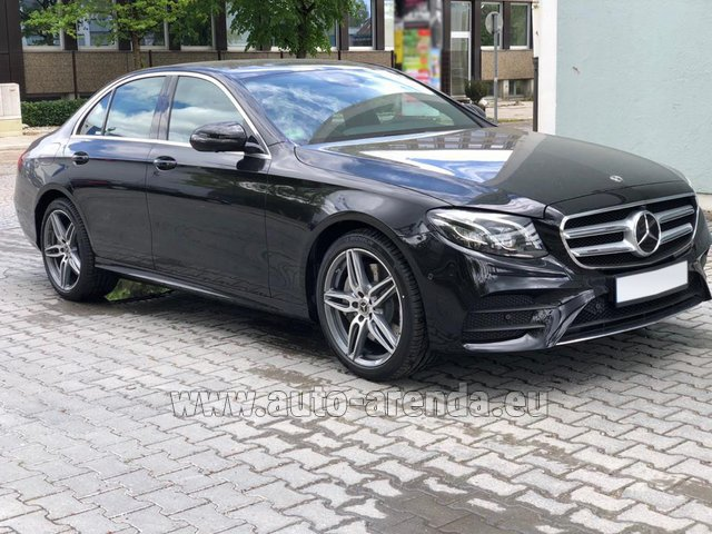 Rental Mercedes-Benz E 450 4MATIC saloon AMG equipment in Nice
