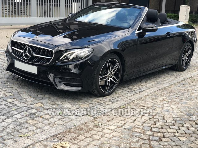Rental Mercedes-Benz E-Class E220d Cabriolet AMG equipment in Menton