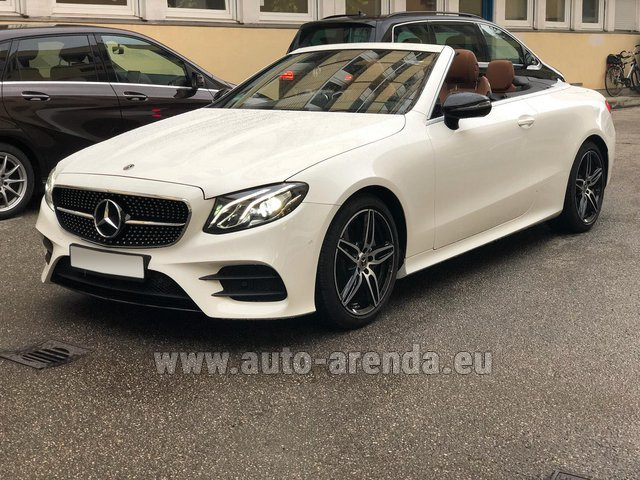 Rental Mercedes-Benz E-Class E300d Cabriolet diesel AMG equipment in Menton