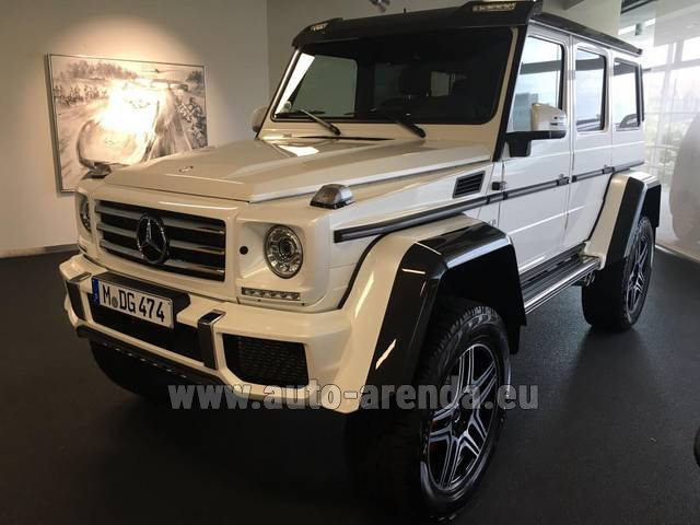 Rental Mercedes-Benz G 500 4x4 White in Antibes