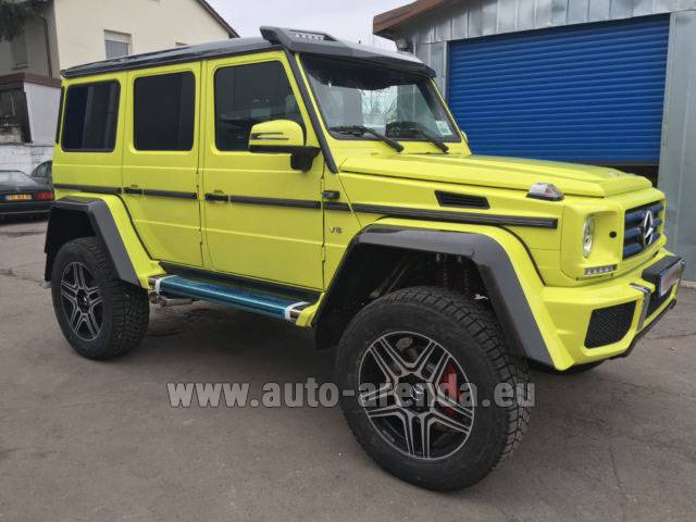 Rental Mercedes-Benz G 500 4x4 Yellow in Antibes
