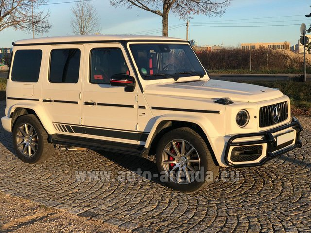 Rental Mercedes-Benz G 63 AMG White in Nice