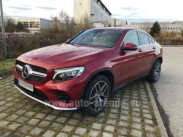 Rental Mercedes-Benz GLC Coupe in Antibes