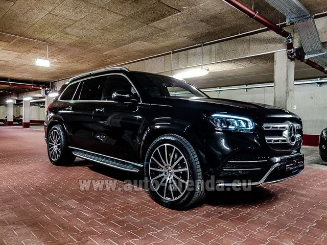 Rental Mercedes-Benz GLS 400d 4MATIC BlueTEC equipment AMG in Nice