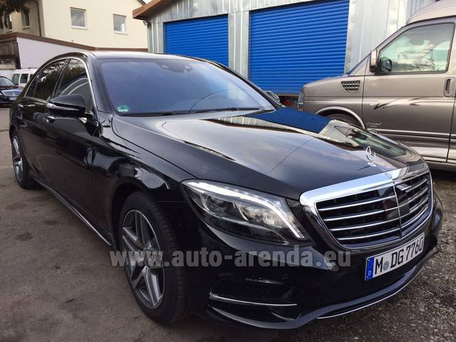 Hire and delivery to the Nice airport the car Mercedes-Benz S 350 L BlueTEC AMG Black