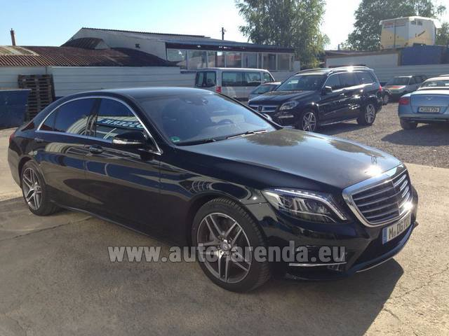 Hire and delivery to the Nice airport the car Mercedes-Benz S 350 L BlueTEC AMG