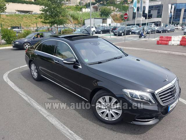 Hire and delivery to the Nice airport the car Mercedes-Benz S 350 Long AMG