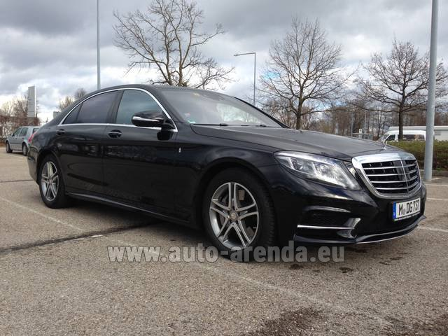 Hire and delivery to the Nice airport the car Mercedes-Benz S 350 Long Diesel 4x4 AMG equipment