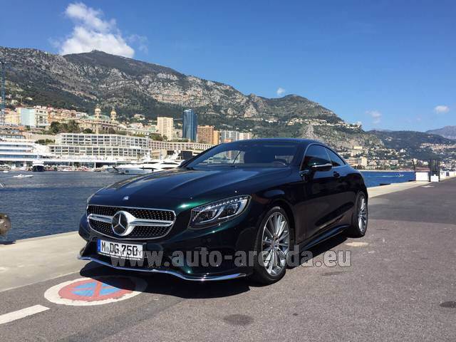 Rental Mercedes-Benz S 500 Coupe 4Matic 7G-TRONIC AMG in French Riviera Cote d'Azur