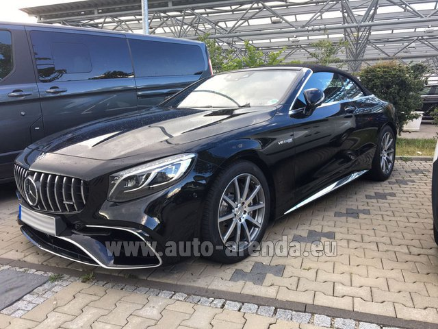 Rental Mercedes-Benz S 63 AMG Cabriolet V8 BITURBO 4MATIC+ in Menton