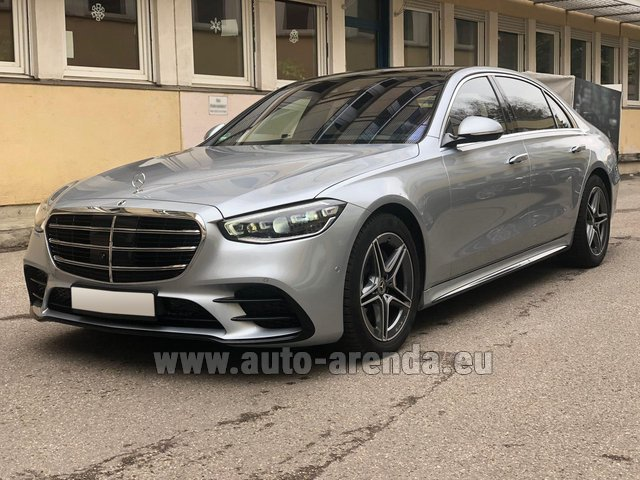 Rental Mercedes-Benz S-Class S 400 Long 4Matic Diesel AMG equipment in Cagnes-sur-Mer