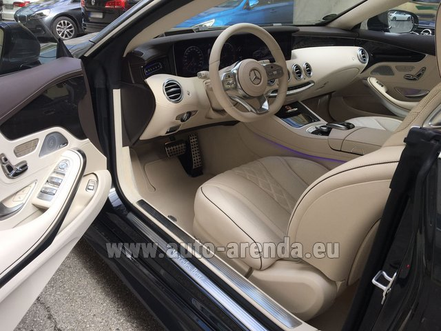 Rental Mercedes-Benz S-Class S 560 4MATIC Coupe in Nice