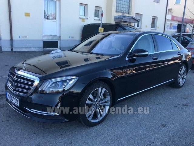 Rental Mercedes-Benz S-Class S400 Long Diesel 4Matic AMG equipment in Nice