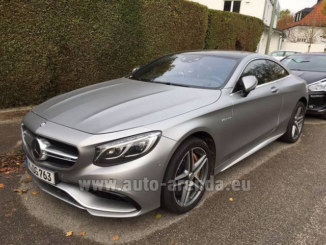 Rental Mercedes-Benz S-Class S63 AMG Coupe in French Riviera Cote d'Azur