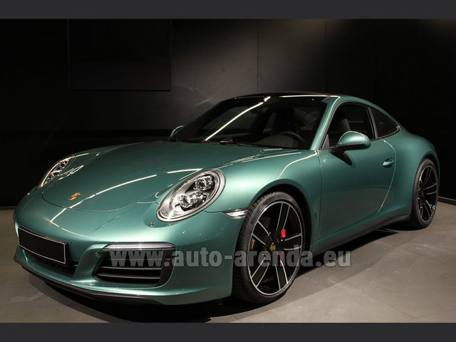 Rental Porsche 911 991 4S Racinggreen Individual Sport Chrono in French Riviera Cote d'Azur
