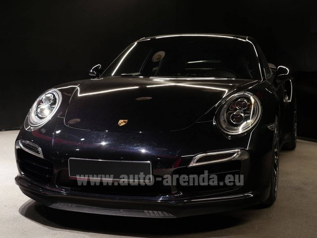 Rental Porsche 911 991 Turbo S Ceramic LED Sport Chrono Package in French Riviera Cote d'Azur